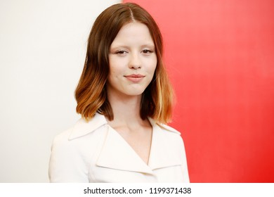 VENICE, ITALY - SEPTEMBER 01: Mia Goth attends the photo-call of the movie 'Suspiria'  during the 75th Venice Film Festival on September 1, 2018 in Venice, Italy.