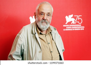 VENICE, ITALY - SEPTEMBER 01: Mike Leigh attends the photo-call of the movie 'Peterloo' during the 75th Venice Film Festival on September 1, 2018 in Venice, Italy.