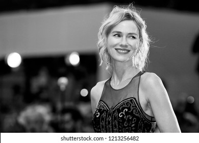 VENICE, ITALY - SEPTEMBER 01: Naomi Watts walks the red carpet of the movie 'Suspiria' during the 75th Venice Film Festival on September 1, 2018 in Venice, Italy.