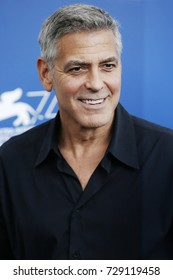 VENICE, ITALY - SEPTEMBER 02: George Clooney attends the 'Suburbicon' photo-call during the 74th Venice Film Festival on September 2, 2017 in Venice, Italy.