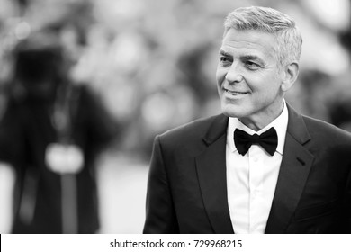 VENICE, ITALY - SEPTEMBER 02: George Clooney attends the 'Suburbicon' premiere during the 74th Venice Film Festival on September 2, 2017 in Venice, Italy.