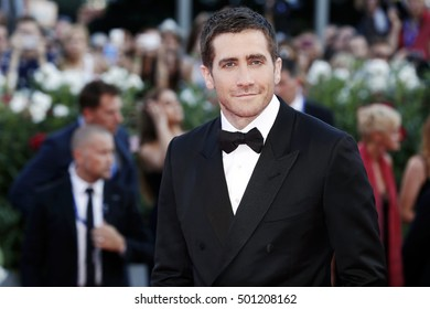 VENICE, ITALY - SEPTEMBER 02: Jake Gyllenhaal attends the premiere of 'Nocturnal Animals' during the 73rd Venice Film Festival on September 2, 2016 in Venice, Italy