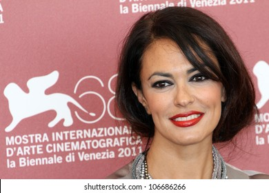 VENICE, ITALY - SEPTEMBER 02: Maria Grazia Cucinotta during a photocall during the 68th Venice Film Festival on September 02, 2011 in Venice, Italy.
