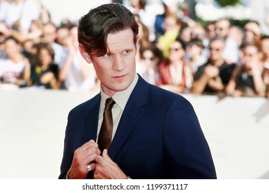 VENICE, ITALY - SEPTEMBER 02: Matt Smith walks the red carpet  of the movie 'Charlie Says' during the 75th Venice Film Festival on September 2, 2018 in Venice, Italy.
