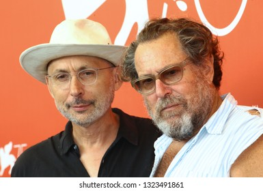 VENICE, ITALY - SEPTEMBER 03:  Benoit Delhomme and Julian Schnabel attends 'At Eternity's Gate' photocall during the 75th Venice Film Festival on September 3, 2018 in Venice, Italy.