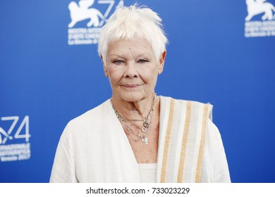 VENICE, ITALY - SEPTEMBER 03: Judi Dench attends the 'Victoria & Abdul' photo-call during the 74th Venice Film Festival on September 3, 2017 in Venice, Italy.
