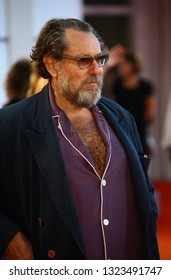 VENICE, ITALY - SEPTEMBER 03: Julian Schnabel walks the red carpet ahead of the 'At Eternity's Gate' screening during the 75th Venice Film Festival on September 3, 2018 in Venice, Italy