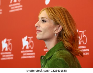 VENICE, ITALY - SEPTEMBER 03: Lolita Chammah attends 'At Eternity's Gate' photocall during the 75th Venice Film Festival on September 3, 2018 in Venice, Italy.