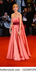VENICE, ITALY - SEPTEMBER 03: Lolita Chammah walks the red carpet ahead of the 'At Eternity's Gate' screening during the 75th Venice Film Festival on September 3, 2018 in Venice, Italy