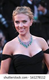 VENICE, ITALY - SEPTEMBER 03: Scarlett Johansson attend 'Under The Skin' Premiere during the 70th Venice Film Festival on September 03, 2013 in Venice, Italy