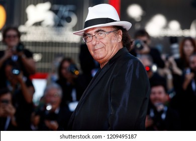 VENICE, ITALY - SEPTEMBER 04: Al Bano Carrisi walks the red carpet of the movie 'Vox Lux' during the 75th Venice Film Festival on September 4, 2018 in Venice, Italy.
