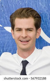 VENICE, ITALY - SEPTEMBER 04: Andrew Garfield attends a photocall for 'Hacksaw Ridge' during the 73rd Venice Film Festival at Palazzo del Casino on September 4, 2016 in Venice, Italy
