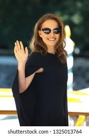VENICE, ITALY - SEPTEMBER 04: Natalie Portman is seen during the 75th Venice Film Festival on September 4, 2018 in Venice, Italy.