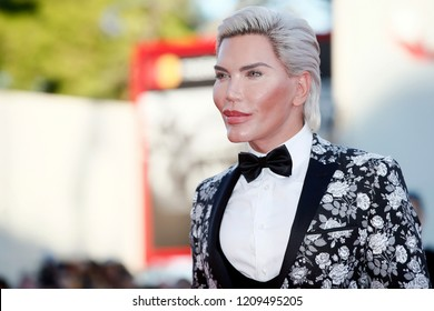 VENICE, ITALY - SEPTEMBER 04: Rodrigo Alves walks the red carpet of the movie 'Vox Lux' during the 75th Venice Film Festival on September 4, 2018 in Venice, Italy.