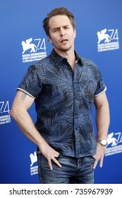 VENICE, ITALY - SEPTEMBER 04: Sam Rockwell attends the photo-call of the movie 'Three Billboards Outside Ebbing, Missouri' during the 74th Venice Film Festival on September 4, 2017 in Venice, Italy.