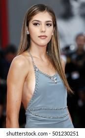 VENICE, ITALY - SEPTEMBER 04: Sistine Rose Stallone attends the premiere of 'Hacksaw Ridge' during the 73rd Venice Film Festival on September 4, 2016 in Venice, Italy.