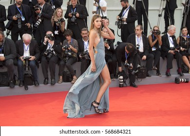 VENICE, ITALY - SEPTEMBER 04: Sistine Rose Stallone attends the premiere of 'Hacksaw Ridge' during the 73rd Venice Film Festival at Sala Grande on September 4, 2016 in Venice, Italy.