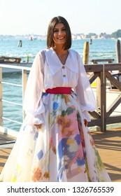 VENICE, ITALY - SEPTEMBER 05:  Alessandra Mastronardi arrive at the Lido of Venice  during the 75th Venice Film Festival on September 5, 2018 in Venice, Italy