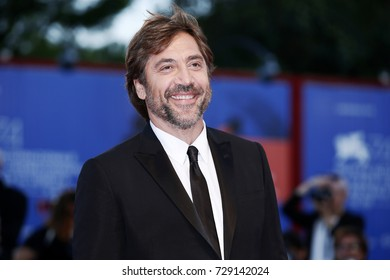 VENICE, ITALY - SEPTEMBER 05: Javier Bardem attends the red carpet of the movie 'Mother!' during the 74th Venice Film Festival on September 5, 2017 in Venice, Italy.