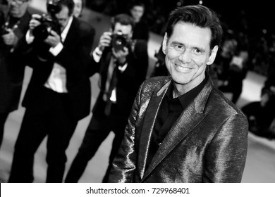 VENICE, ITALY - SEPTEMBER 05: Jim Carrey attends the red carpet of the movie 'Jim & Andy' during the 74th Venice Film Festival on September 5, 2017 in Venice, Italy.