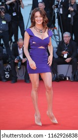 VENICE, ITALY - SEPTEMBER 05: Klaudia Pepa walks the red carpet ahead of the 'mother!' screening during the 74th Venice Film Festival