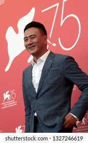 VENICE, ITALY - SEPTEMBER 06:  Hu Jun  attends the 'Ying (Shadow)' Photocall during the 75th Venice Film Festival on September 6, 2018 in Venice, Italy