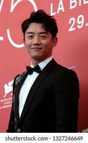 VENICE, ITALY - SEPTEMBER 06: Zhang Kai attends the 'Ying (Shadow)' Photocall during the 75th Venice Film Festival on September 6, 2018 in Venice, Italy