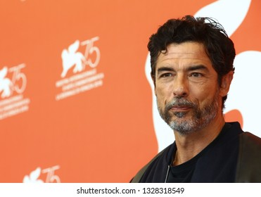 VENICE, ITALY - SEPTEMBER 07: Alessandro Gassmann attends 'Una Storia Senza Nome' photocall during the 75th Venice Film Festival on September 7, 2018 in Venice, Italy.