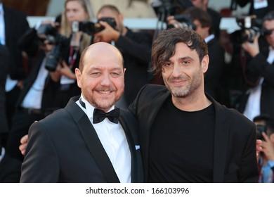 VENICE, ITALY - SEPTEMBER 07: Themis Panou  and Alexandros Avranas arrives for the award ceremony of the 70th Venice Film Festival on September 07, 2013 in Venice, Italy