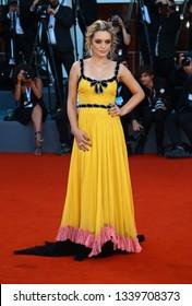 VENICE, ITALY - SEPTEMBER 08: : Carolina Crescentini walk the red carpet ahead of the Award Ceremony during the 75th Venice Film Festival on September 8, 2018 in Venice, Italy