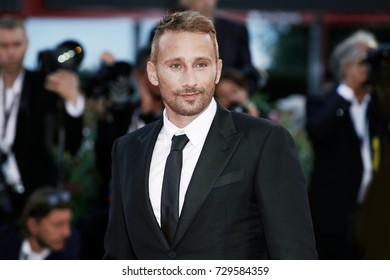 VENICE, ITALY - SEPTEMBER 08: Matthias Schoenaerts attends the premiere of the movie 'Racer And The Jailbird (Le Fidele)' during the 74th Venice Film Festival on September 8, 2017 in Venice, Italy.
