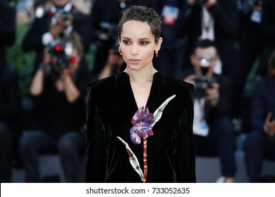 VENICE, ITALY - SEPTEMBER 08: Zoe Kravitz attends the premiere of the movie 'Racer And The Jailbird (Le Fidele)' during the 74th Venice Film Festival on September 8, 2017 in Venice, Italy.