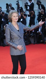 VENICE, ITALY - SEPTEMBER 09: Charlotte Rampling  arrive at the Award Ceremony during the 74th Venice Film Festival at Sala Grande on September 9, 2017 in Venice, Italy.