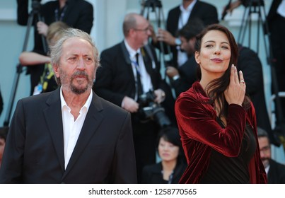 VENICE, ITALY - SEPTEMBER 09:  Giuseppe Piccioni and a guest arrive at the Award Ceremony of the 74th Venice Film Festival at Sala Grande on September 9, 2017 in Venice