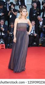 VENICE, ITALY - SEPTEMBER 09: Jury member Greta Scarano arrives at the Award Ceremony during the 74th Venice Film Festival at Sala Grande on September 9, 2017 in Venice, Italy.