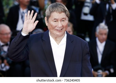 VENICE, ITALY - SEPTEMBER 09: Takeshi Kitano attends the closing Ceremony of the 74th Venice Film Festival on September 9, 2017 in Venice, Italy
