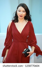 VENICE, ITALY - SEPTEMBER 09: Ying Zei from 'The Taste of Rice Flower' movie arrives at the Award Ceremony of the 74th Venice Film Festival at Sala Grande on September 9, 2017 in Venice, Italy.
