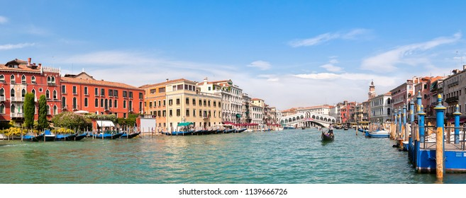 VENICE, ITALY - SEPTEMBER 1, 2011: Panoramic view of Canal Grande in Venice, Italy