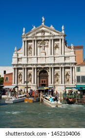 Venice, Italy - September 12, 2007: Church of Scalzi