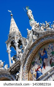 Venice, Italy - September 12, 2007: St. Mark's Cathedral facade