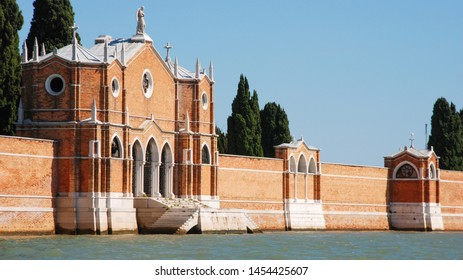 Venice, Italy - September 12, 2007: cemetery in San Michele