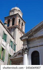 Venice, Italy - September 12, 2007: Belfry Church of St. Simeon the Prophet