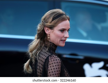 VENICE, ITALY - SEPTEMBER 12: Diane Kruger  during the 72th Venice Film Festival 2015 in Venice, Italy