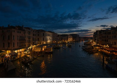 VENICE, ITALY. SEPTEMBER 18: Venice city in Italy. Canals, buildings and boats. Travel (vacation) concept. On September 18 in Venice, Italy