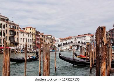 Venice, Italy - September 20 2017 : Crand Canal Venice