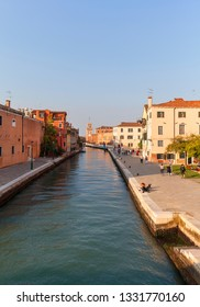 VENICE, ITALY - SEPTEMBER 22,2017: Venetian Arsenal, Fondamenta Arsenale, old shipyard.12th century Arsenal was the largest industrial complex in Europe before the Industrial Revolution