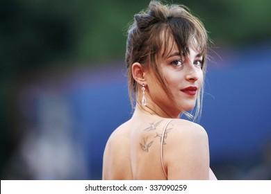 VENICE, ITALY - SEPTEMBER 4: Dakota Johnson attends 'Black Mass' premiere during the 72nd Venice Film Festival on September 4, 2015 in Venice, Italy.