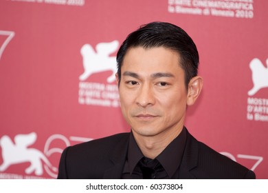 """VENICE, ITALY - SEPTEMBER 5: Andy Lau at photocall for the movie """"Detective Dee and the Mystery of the Phantom"""" by Tsui Hark at 67th Venice Film Festival September 5, 2010 in Venice, Italy."""
