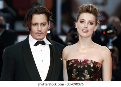 VENICE, ITALY - SEPTEMBER 5: Johnny Depp and Amber Heard attend the premiere of  'THE DANISH GIRL' during the 72nd Venice Film Festival on September 5, 2015 in Venice, Italy.
