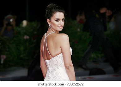 Venice, ITALY - September 6 : Penelope Cruz attends the premiere of the movie 'Loving Pablo' during the 74th Venice Film Festival in Venice, Italy on September 6, 2017.